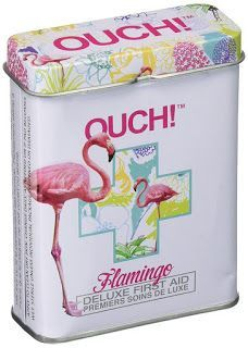 Flamingos - First Aid In A Tin - Plasters / Band Aids: Our pretty Flamingo bandages include an image of a Flamingo with a colorful nature sketch. Carry 24 high-quality sterile bandages in this tin box Flamingo Craft, Flamingo Decor, Pink Flamingos, Flamingo Gifts, Flamingo Birthday, Flamingo Party, Just In Case, Just For You, Pink Bird