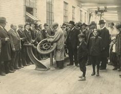 First Gillette Tire | Photograph | Wisconsin Historical Society