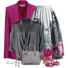 magenta pop by divacrafts on Polyvore featuring Repeat, STELLA McCARTNEY, Chicwish, Balenciaga, Sam Edelman, Blue Nile and Original