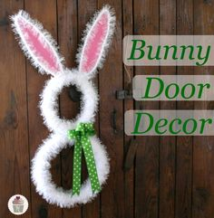 Easter is on its way!  Make fun Bunny Door Decorations with #Walmart Mom Liz and supplies from #Walmart.