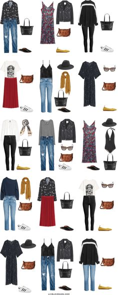 What to Pack for one month in Italy Packing Light List Outfit Options 1-15