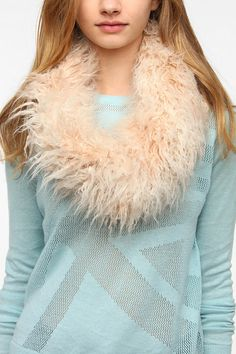 Faux Fur Snood Scarf Online Only
