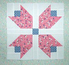 Patchwork Tulip Quilt Block Pattern