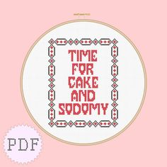 cross stitch pattern Marilyn Manson time for cake and sodomy