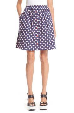 CARVEN Clover Print Poplin Skirt. #carven #cloth #