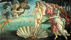 Botticelli  ~  Birth of Venus  ~ 1486  Sandro Botticelli's Birth of Venus is the perfect incarnation of Renaissance art. In painting one his best known masterpieces, Botticelli merged the undeniable perfection of pictorial art and the Neo Platonic idea of divine love. Through the contemplation of the naked beauty of Venus we are allowed to perceive spiritual beauty.