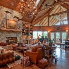 Rustic log cabin interior design rustic cabin decorating ideas cabin design ideas for inspiration 6 log