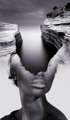 photo manipulation portrait by Spanish-based artist Antonio Mora (a.k.a. Mylovt) blending human and nature images into surreal hybrid artworks mylovt.com
