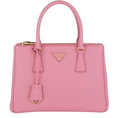Prada Handle Bag - Borsa A Mano Saffiano Lux Tote Begonia - in rose -... ($2,125) ❤ liked on Polyvore featuring bags, handbags, tote bags, rose, leather tote handbags, handbags totes, pink leather tote, pink leather handbags and leather tote bags
