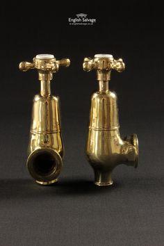 Restored Brass Globe Bath Taps