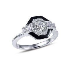 Lafonn s signature Lassaire simulated diamonds in sterling silver bonded with platinum R0283CBP