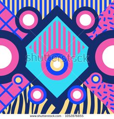 Abstract background design. Fashion geometric illustration. Memphis trendy 1990s.