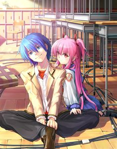 Angel Beats! - Hinata and Yui - They are so cute together!