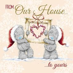 From Our House To Yours Me to You Bear Christmas Card  £2.09