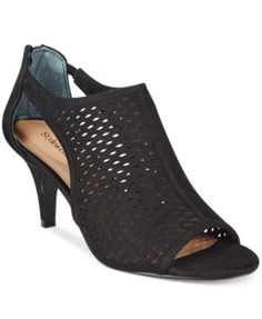 Style & Co. Haddiee Ankle Shooties, Only at Macy's $59.99 Dress up jeans or a skirt with Style & Co.'s Haddiee shootie heels, fashioned with perforated and cutout details paired in a chic, peep toe design.
