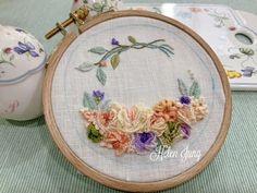 프랑스 자수 🇫🇷 아무도 방해할 수 없는 시간 : 네이버 블로그 Embroidered Roses