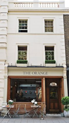 storefront of the orange, london | travel photography #restaurants