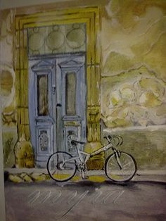 "my art work ""old doors"" acrylic colors"