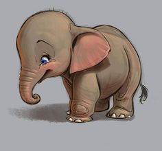 Trying to do some more cute design for my next lecture on how to draw cuteness. #elephant #baby #characterdesign #drawing