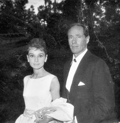 Audrey Hepburn and Mel Ferrer on the day of the 33rd Academy Awards, April 17, 1961. Photographed by Dwight 'Dodo' Romero.