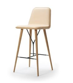 SPINE barstool by Space Copenhagen  by FREDERICIA Furniture