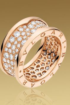 B.Zero1 4-Band Ring in Pink Gold Bvlgari Gold 01d83ac47a067