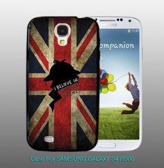 I Believe in SHERLOCK HOLMES , For Samsung S4 i9500 Black Case
