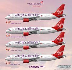 Virgin Little Red Fleet Aircraft