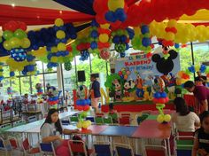 clubhouse mickey balloon arrangement - Google Search