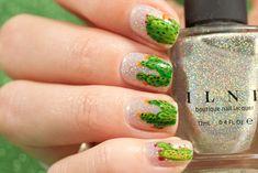 Freehand Cacti Nail Art My Nails, Nailart, Green Cactus, Cacti, Pretty, Hair, Cactus Plants, Strengthen Hair