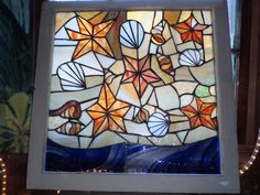 Remnants On the Beach - Signed  J Glann Stained Glass. $185.00, via Etsy.