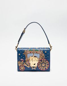 44a8afe78239 LUCIA BAG IN LEATHER WITH APPLIQUÉS Fashion Handbags