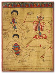 Tibetan Medical Painting: Tibetan Medical Painting.