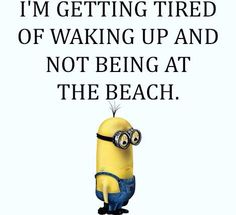 lol...And I sleep in at the beach... enjoy. Listening to the crashing waves from our bed is a dream come true!