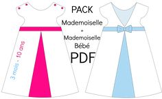"PACK Patrons ""Mademoiselle"" + ""Mademoiselle Bébé"" - PDF"