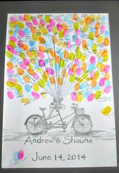 Creative Fingerprint Wedding Guestbook Ideas - Crafty Morning