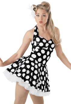 Weissman™ | Foil-Dot Print Halter Dress