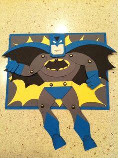 Batman Punch Art Card design by Lynda Gustafson
