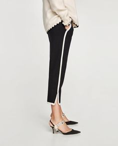 A pair of pants for any occasion. The new collection is here at ZARA online. Enter now and discover all the pants of the new collection at ZARA. Trousers Women Outfit, Pants For Women, Women's Trousers, Women's Pants, Velvet Dress Designs, Smart Casual Wear, Pakistani Fashion Casual, Fashion Outfits, Womens Fashion
