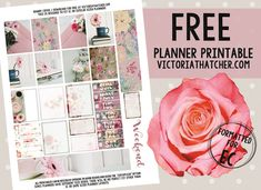 Free Printable Shabby Coffee Planner Stickers from Victoria Thatcher - Site Title To Do Planner, Mini Happy Planner, Planner Layout, Free Planner, Planner Ideas, Planner Diy, College Planner, Planner Supplies, College Tips