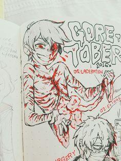 GORETOBER + INKTOBER 01 × the same thing, every year