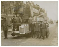 A Cardiff tramcar during the First World War.