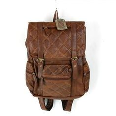 leather backpack quilted