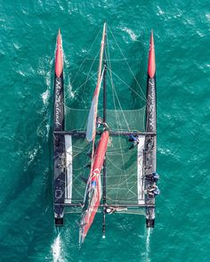 AC45 Sailing Catamaran, Yacht Boat, Sailing Ships, Out To Sea, Sail Away, Birds Eye View, Retro, Sailboat, Wonders Of The World