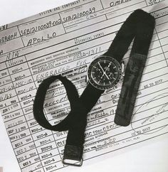 Moon watch  Omega speedmaster with nasa velcro strap