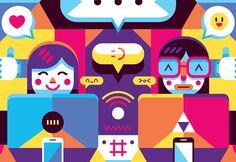 MIMEC 2014 : Living Digital on Behance #illustration