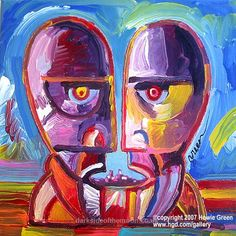 Pink Floyd Division Bell Pop Art Album Cover Painting by Howie Green by Howie… Music Cover Photos, Music Covers, Album Covers, Arte Pink Floyd, Music Background, Music Rock, The Dark Side, Music Artwork, Band Posters