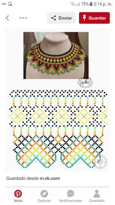Diy Necklace Patterns, Beaded Jewelry, Beaded Necklace, Bead Weaving, Jewelery, Jewelry Making, Embroidery, Beads, How To Make