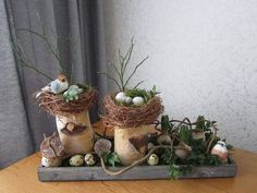 Easter Crafts, Christmas Crafts, Christmas Tree, Arte Floral, Spring Time, Diy And Crafts, Planter Pots, Centerpieces, Handmade