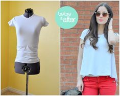 Tailor it to fit: Loosen a tight top with a fabric panel in back